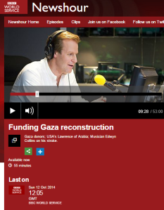 BBC WS 'Newshour' provides a platform for UNRWA's political campaigning