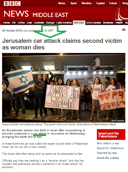 BBC continues to describe terror in Jerusalem as a 'car attack' and terrorist as 'driver'