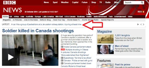 Pigua Jerusalem on main page
