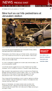 Overview of BBC reporting on recent violence and terror in Israel