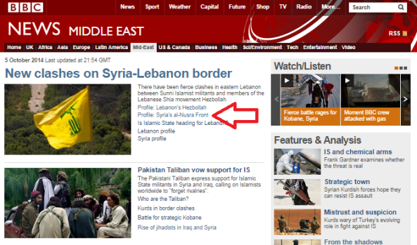 Inaccuracies in BBC's Jabhat al Nusra profile