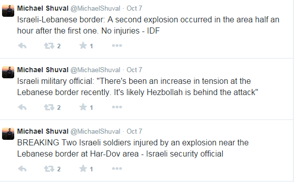 Shuval tweets Har Dov