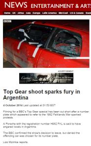 Top Gear filmed