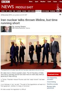 Bowen Iran talks written