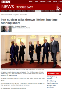 Bowen Iran talks written