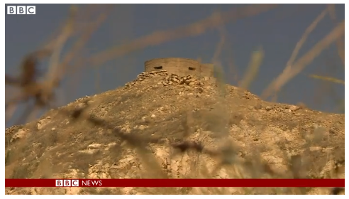 Inaccurate BBC representation of Golan Heights 'relics'