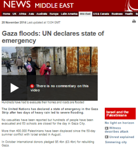Flooding Gaza written