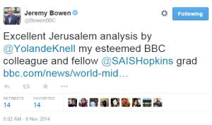 Knell backgrounder Bowen Tweet
