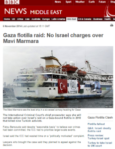 BBC News misleads audiences on ICC Mavi Marmara statement