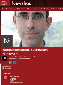 BBC coverage of Har Nof terror attack: World Service's 'Newshour' – part two