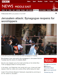 BBC coverage of Har Nof terror attack – the follow up report