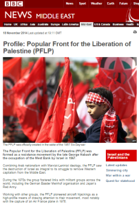 Revisiting the BBC News website's PFLP profile