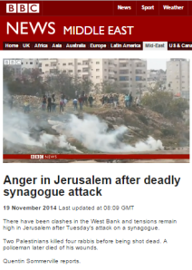 BBC coverage of Har Nof terror attack: Sommerville drops the ball