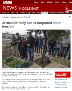 Temple Mount written