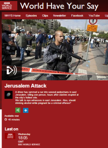 Antisemitism on BBC WS 'World Have Your Say' Facebook page