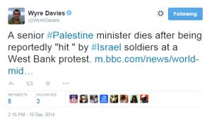 Abu Ein Davies Tweet