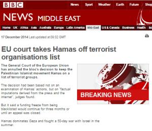 BBC News presentation of EU court's Hamas terror designation decision