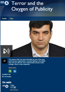BBC R4 programme on terror and the media rebrands PFLP terrorists