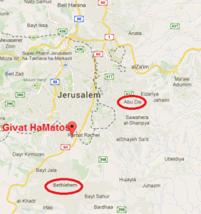 Map Givat HaMatos