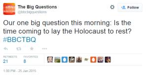 Big Questions tweet