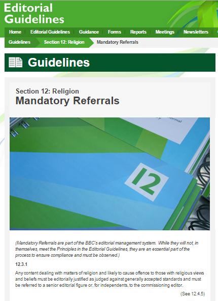 Ed guidelines religion