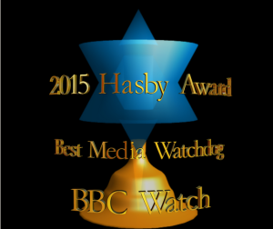 BBC Watch wins Hasby Award