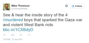 Kidnappings Thomson tweet 1