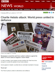 BBC Monitoring amplifies Iranian Charlie Hebdo conspiracy theory