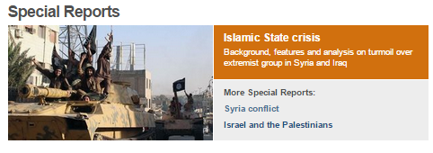 More selective BBC reporting on Middle East Jihadists