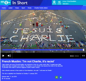 Themes in BBC reporting on the Paris terror attacks