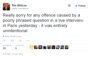Willcox Twitter apology