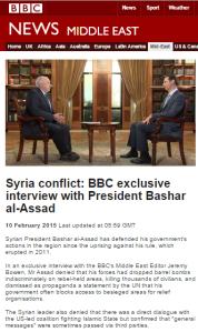 Assad int on ME pge