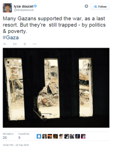 Doucet Gaza twitter 1