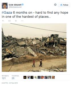 Doucet Gaza twitter 2