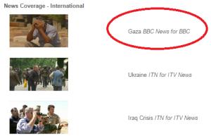 BBC's Gaza coverage up for award