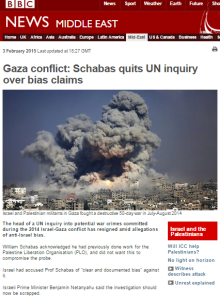 BBC framing of the Schabas resignation story misleads audiences