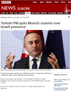 Lazy BBC reporting on Turkish FM's quitting Munich conference