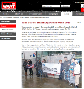 BBC promoted NGO supplying props for 'Israel Apartheid Week'