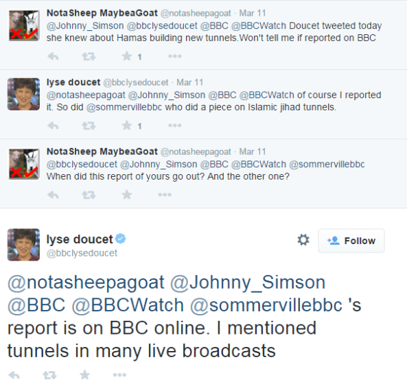 Examining Lyse Doucet's claim that she reported new Hamas tunnels on BBC