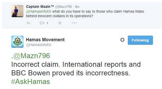 Hamas tweet Bowen