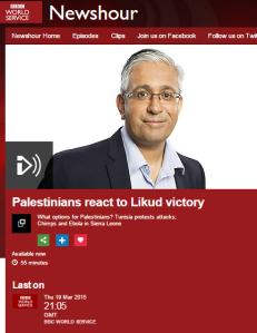 One-staters get BBC WS platform for promotion of BDS, 'resistance' and 'apartheid' trope
