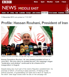 Why does the BBC continue to describe Rouhani as a 'moderate'?