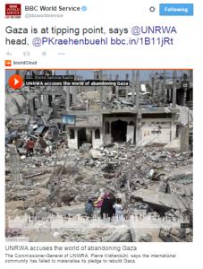 UNRWA WS tweet