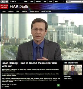 Herzog on Hardtalk clip