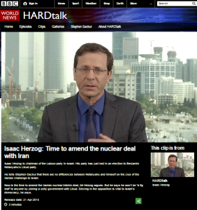 Herzog on Hardtalk clip