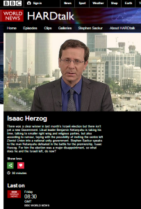 BBC's Sackur touts 'racist' Israel in Hardtalk interview with Herzog