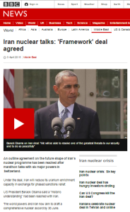 Did the BBC News website's reporting on the P5+1 framework agreement with Iran tell the whole story?