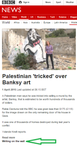 Knell Banksy filmed