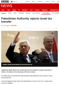 BBC again avoids informing audiences about PA debt to Israel