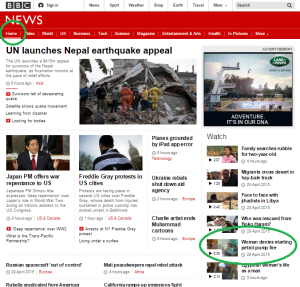 petrol station story on home page